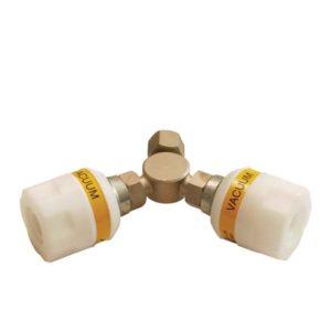"""Twin Adaptor Nut + Liner 3/8"""" BSP"""