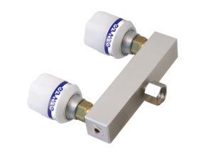 "Twin Adaptor Nut + Liner 3/8"" BSP 100mm Straight Bar"