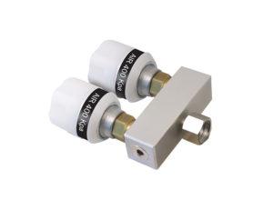 "Twin Adaptor Nut + Liner 3/8"" BSP 50mm Straight Bar"